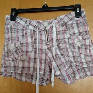 Juniors Short Shorts size 1 - plaid